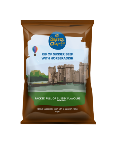 Rib of Sussex Beef crisps packet
