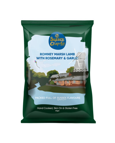 Romney Marsh lamb crisps packet