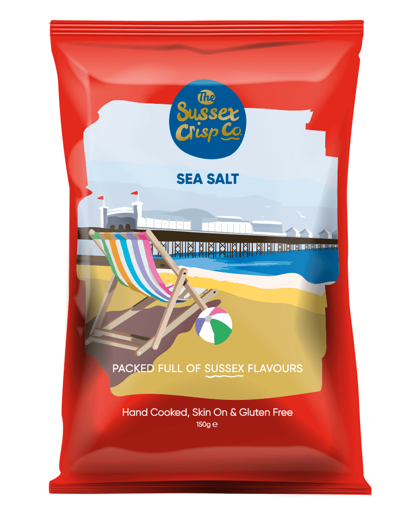 Sea salt crisps packet