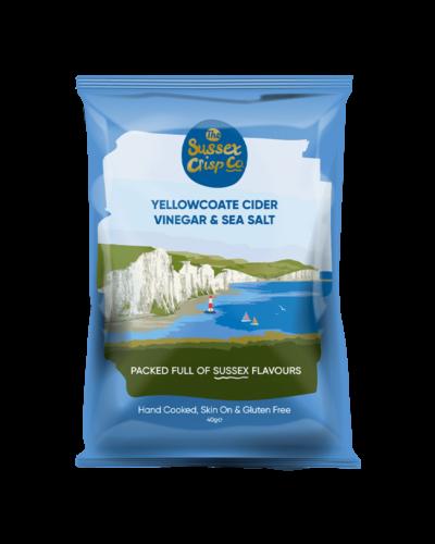 Yellowcoate Cider Vinegar Sea salt crisps packet
